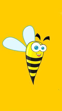 蜜蜂 乐趣 搞笑 可爱 微笑 脸 动物 卡通 苹果手机