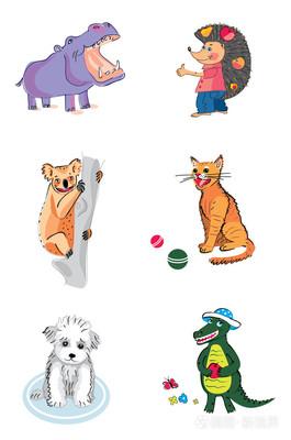 搞笑动物插画-正版商用图片1e4qzv-摄图新视界